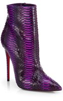 Christian Louboutin So Kate Watersnake Ankle Boots - Lyst