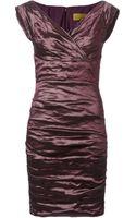 Nicole Miller Crepe Dress - Lyst