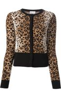 RED Valentino Leopard Cardigan - Lyst