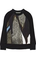 Reed Krakoff Printed Crepe and Shell Top - Lyst