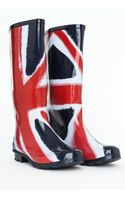 Missguided Kimbra Union Jack Wellies - Lyst