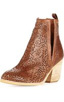 Jeffrey Campbell Orwell Paisley Cutout Bootie Tan - Lyst