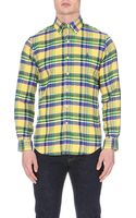 Ralph Lauren Check Patterned Cotton Flannel Shirt - Lyst