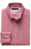 Banana Republic Tailored Slim Fit Non Iron Royal Gingham Oxford Ranger Red - Lyst