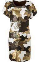 Michael Kors Sequinned Jersey Tshirt Dress - Lyst