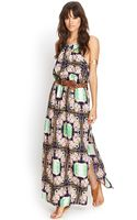 Forever 21 Tropical Floral Maxi Dress - Lyst