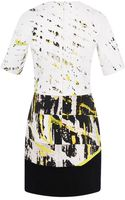 J. Mendel Central Park Printed Stretch Poplin Short Sleeve Dress - Lyst
