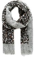 Violeta By Mango Leopard Cotton Scarf - Lyst
