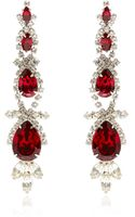Carole Tanenbaum Vintage Unsigned Rhinestone Drop Earrings - Lyst