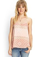 Forever 21 Geo Watercolor Print Cami - Lyst