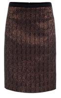Paul Smith Metallic Bronze Pencil Skirt with Textured Waistband - Lyst