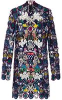 Mary Katrantzou Dixicult Lace Dress Embroidered - Lyst
