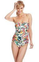 La Blanca Glamazon Ruched Bandeau Swimsuit - Lyst