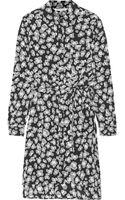Diane Von Furstenberg Prita Printed Silk Dress - Lyst