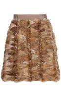 Saint Laurent Fur Skirt - Lyst