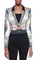 Just Cavalli Romantic Nature Print Jacket - Lyst