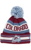 New Era Kids Colorado Avalanche Jacob Pom Knit Hat - Lyst