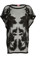 River Island Floral Mesh Tunic - Lyst