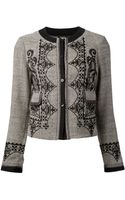Etro Embroidered Tweed Jacket - Lyst