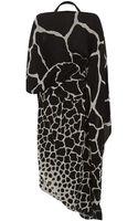 Roberto Cavalli Asymmetric Printed Maxi Dress - Lyst
