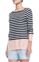 Vince Colorblock Striped Sweater - Lyst