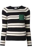 Chinti & Parker Striped Knit Top - Lyst