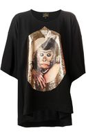 Vivienne Westwood Anglomania Loose Monkey Print Tshirt - Lyst