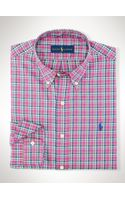Polo Ralph Lauren Plaid Oxford Sport Shirt - Lyst