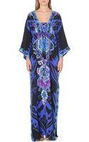Emilio Pucci Embellished Printed Silk Kaftan - Lyst