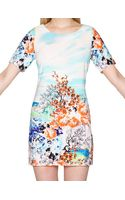 Pixie Market Landscape Floral Shift Dress - Lyst