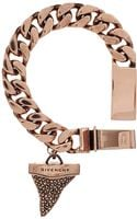 Givenchy Rose Goldplated Sharks Tooth Chunky Bracelet - Lyst