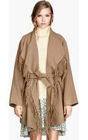 H&M Fringed Coat - Lyst