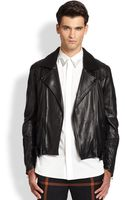 3.1 Phillip Lim Leather Shearling Jacket - Lyst