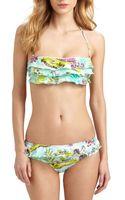 Onda De Mar Swim Goa Ruffle Bikini Top - Lyst