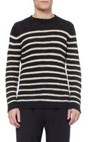 The Elder Statesman Striped Cashmere Sweater - Lyst