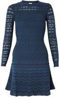 M Missoni Ladder Knit Long Sleeve Dress - Lyst