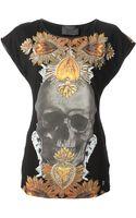 Philipp Plein Skull Motif Tshirt - Lyst