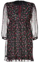 Anna Sui Silk Hearts and Rosebuds Print Dress - Lyst