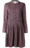 Band Of Outsiders Slant Waist Dress - Lyst
