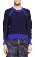 Rebecca Taylor Contrast Trim Knit Pullover Sweater  - Lyst