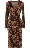 Rena Lange Kneelength Dress - Lyst