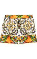 Dolce & Gabbana Printed Jacquard Shorts - Lyst