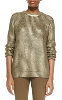 Michael Kors Michael Metallic Knit Sweater - Lyst