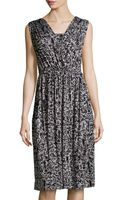 Rachel Pally Splatterprint Ruched Midi Dress - Lyst
