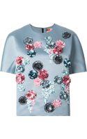 MSGM Embellished Floral Top - Lyst