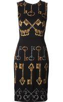 Dolce & Gabbana Key Print Dress - Lyst