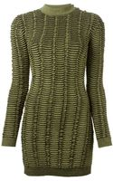 Balmain Fitted Jacquard Dress - Lyst