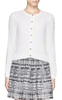 Alice + Olivia Pearl Novelty Stitch Cropped Cardigan - Lyst