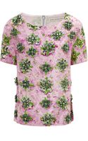 Mary Katrantzou Piper Embellished Top Lucky Strike - Lyst