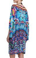 Camilla Batwingsleeve Printed Coverup Mini Dress - Lyst